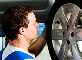 tire service, wheel inspection